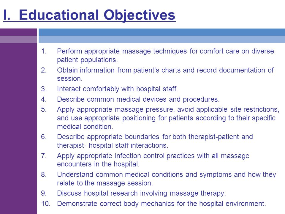 I. Educational Objectives