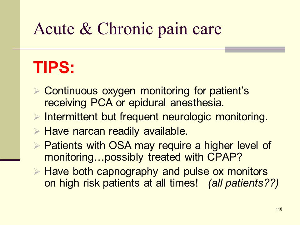 Acute & Chronic pain care