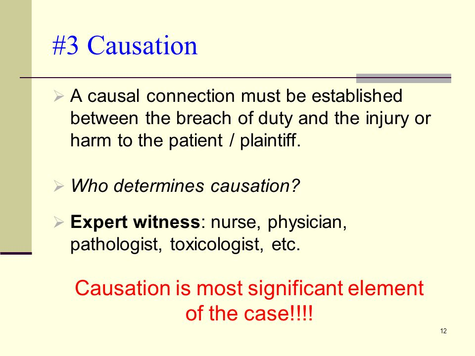 Causation is most significant element of the case!!!!