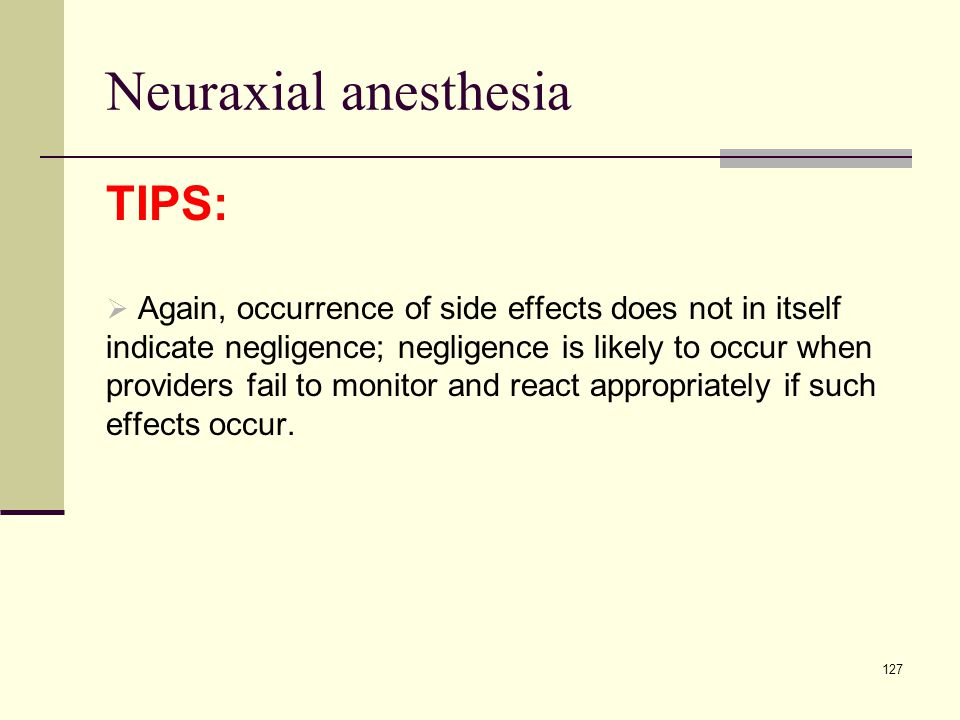 Neuraxial anesthesia TIPS: