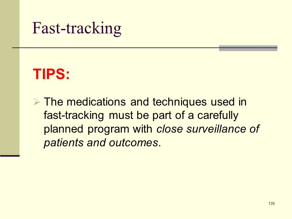 Fast-tracking TIPS: