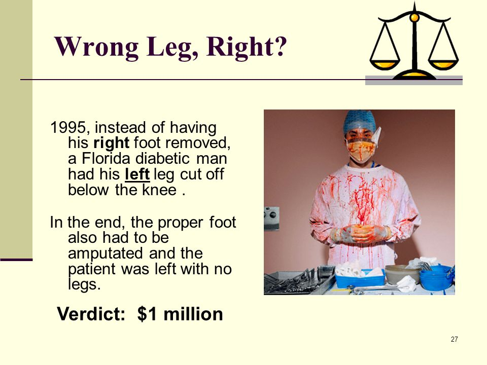 Wrong Leg, Right Verdict: $1 million