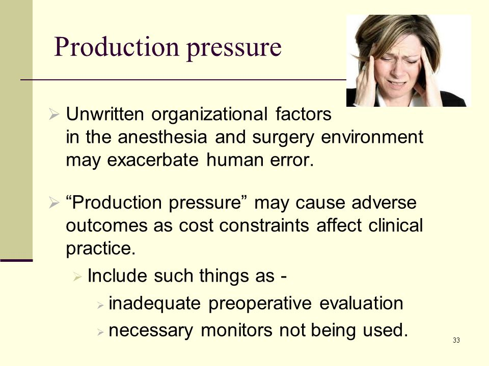 Production pressure