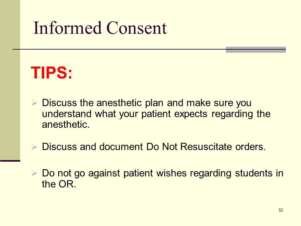 Informed Consent TIPS: