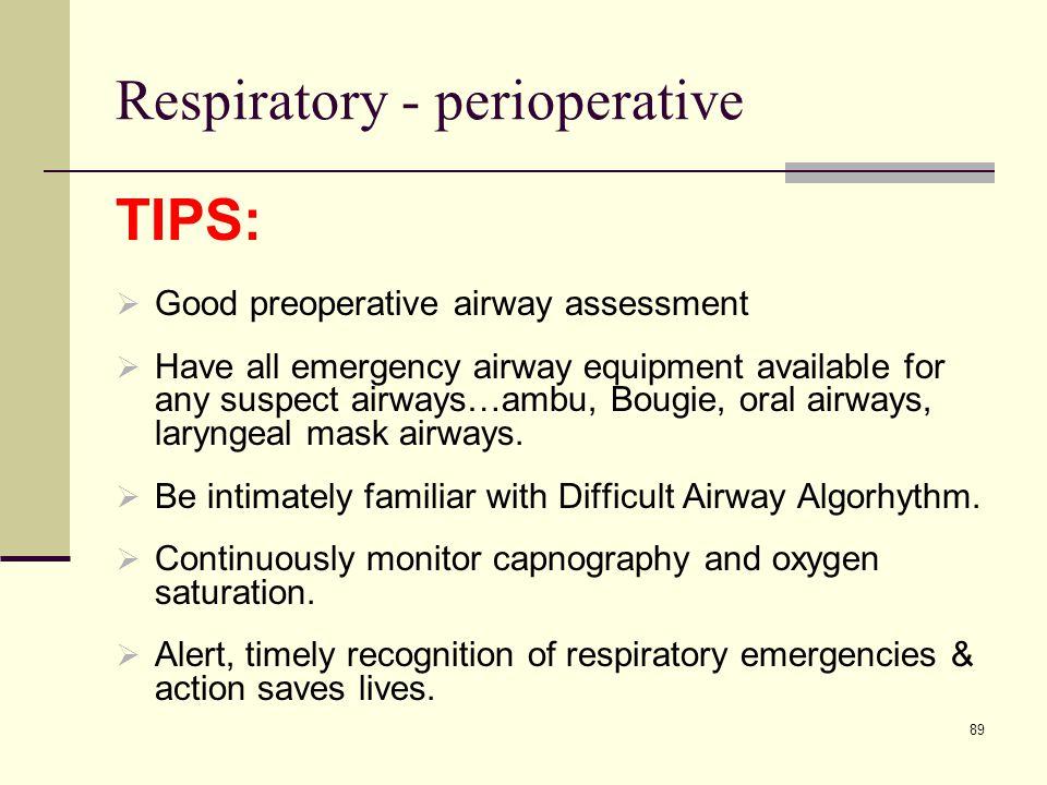 Respiratory - perioperative