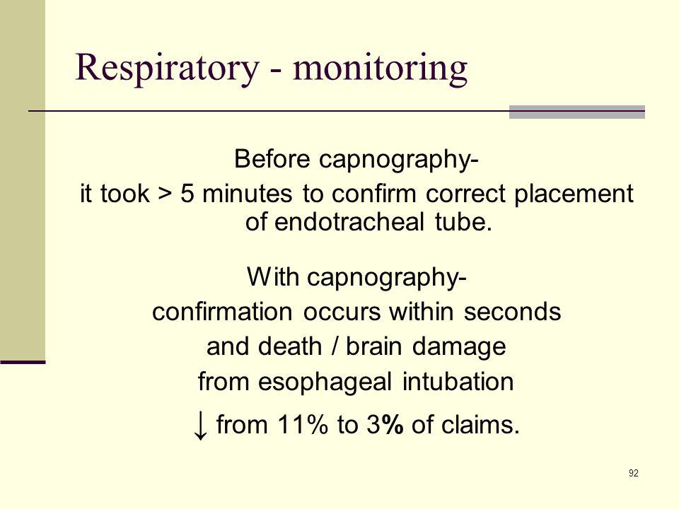 Respiratory - monitoring