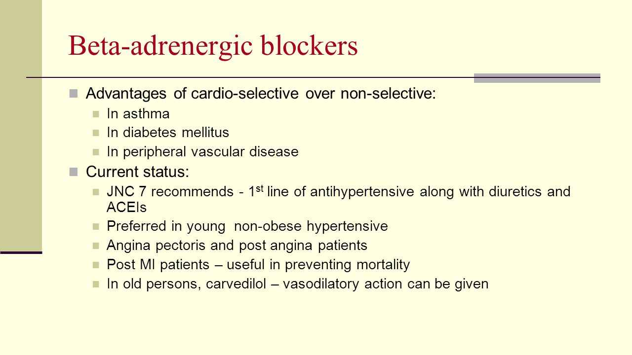 Beta-adrenergic blockers