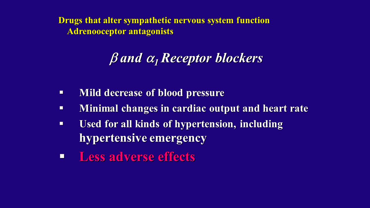  and 1 Receptor blockers