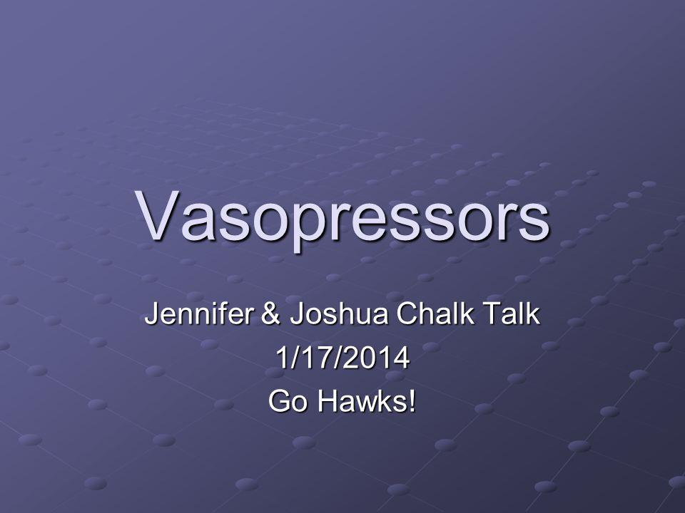Jennifer & Joshua Chalk Talk 1/17/2014 Go Hawks!