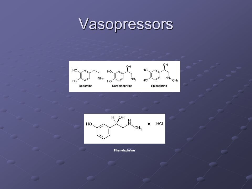 Vasopressors Phenylephrine