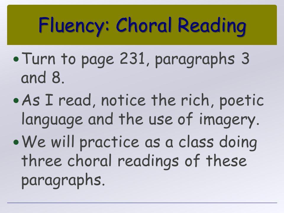 Fluency: Choral Reading