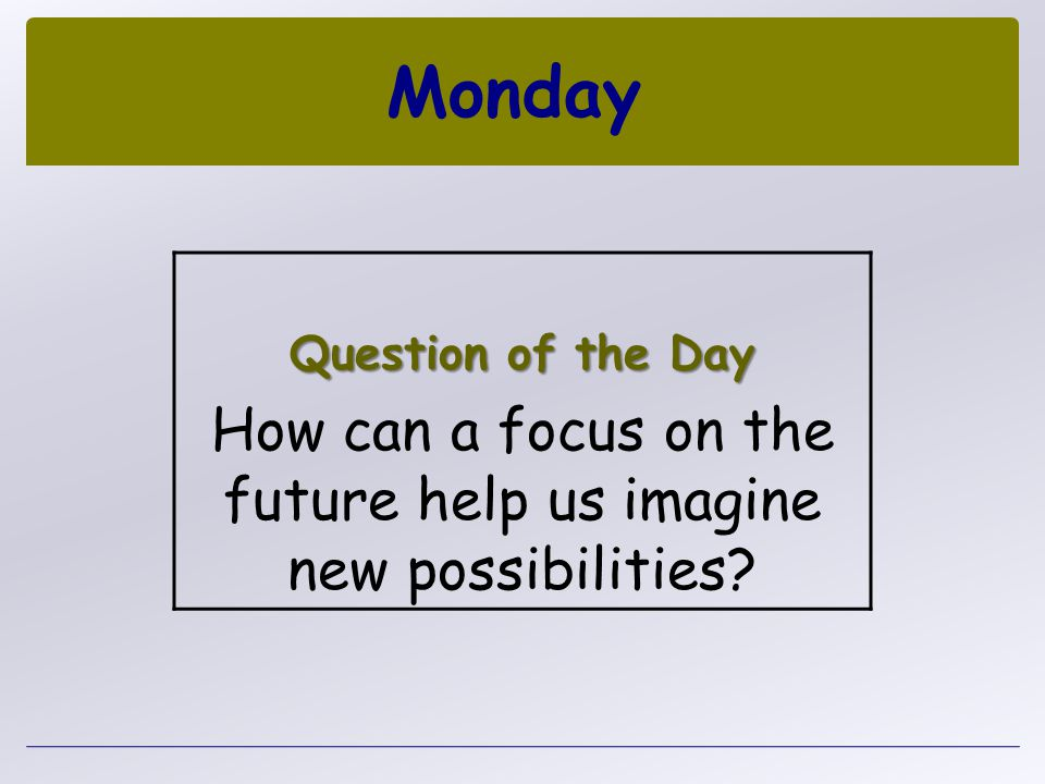 How can a focus on the future help us imagine new possibilities