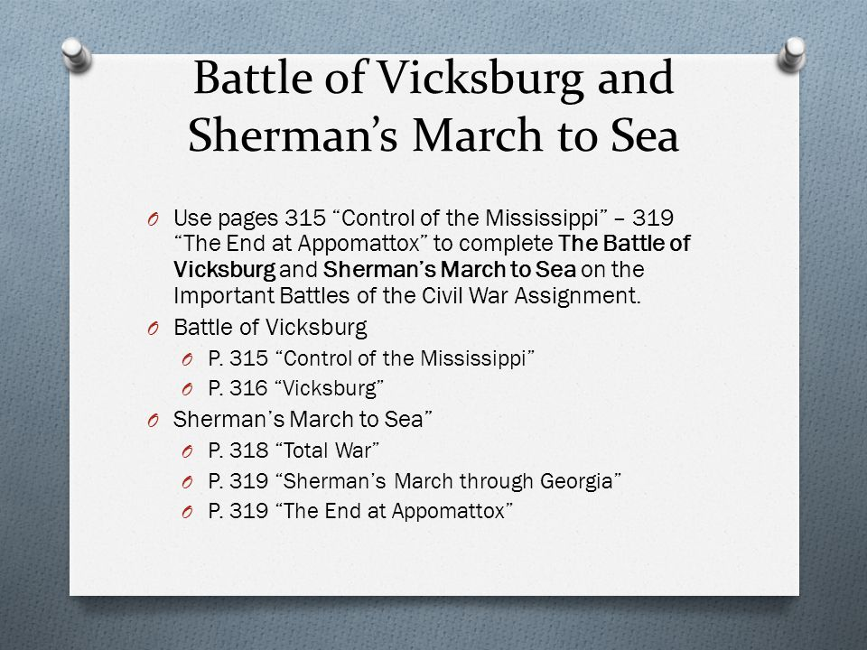 Battle of Vicksburg and Sherman's March to Sea
