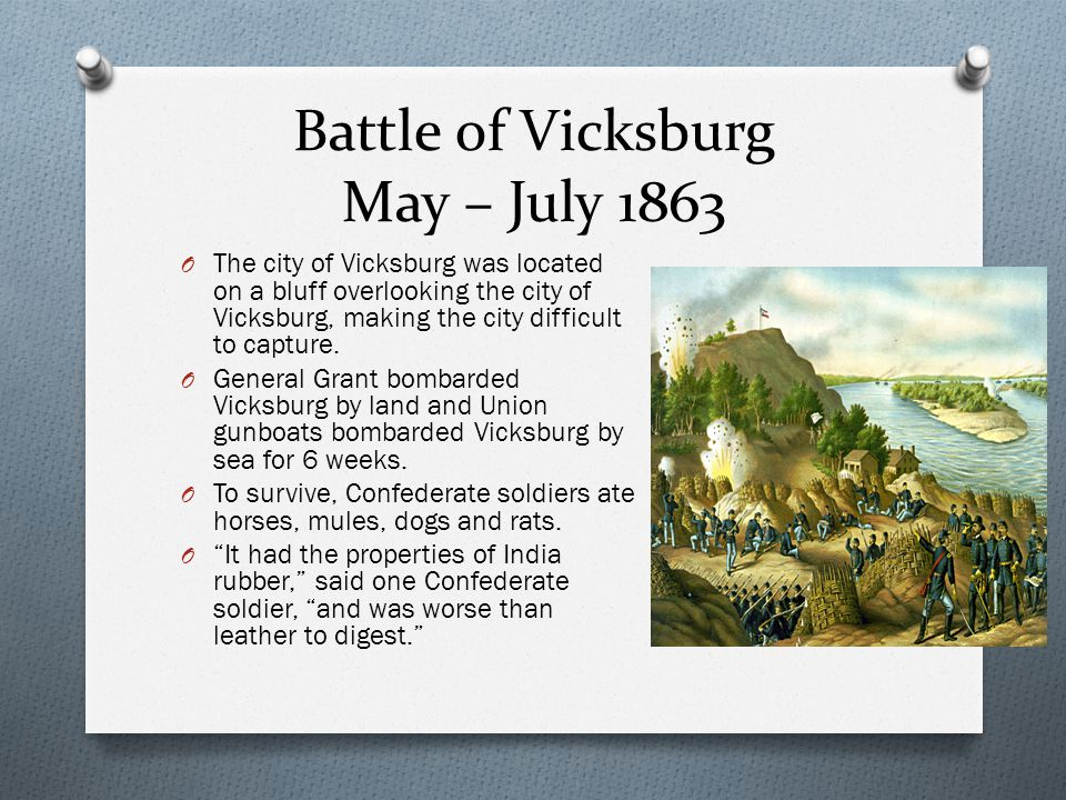 Battle of Vicksburg May – July 1863