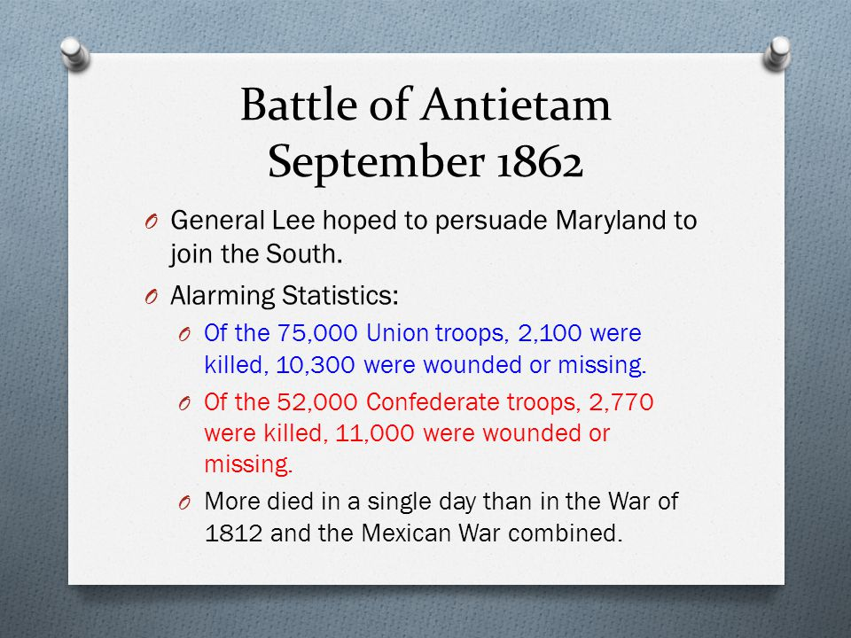 Battle of Antietam September 1862