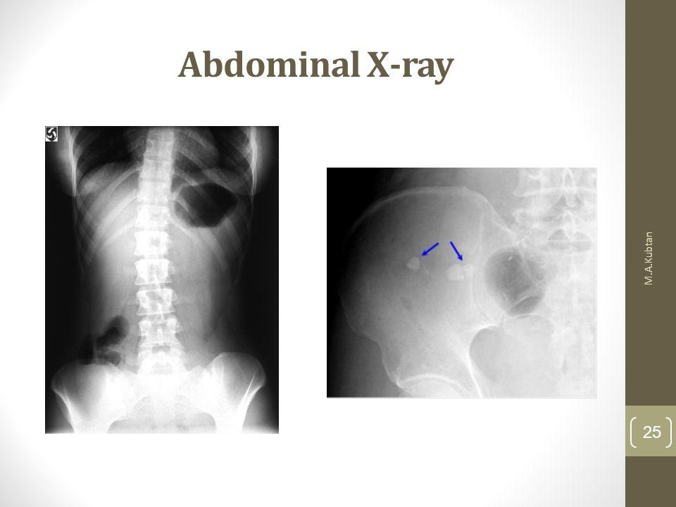 Abdominal X-ray M.A.Kubtan