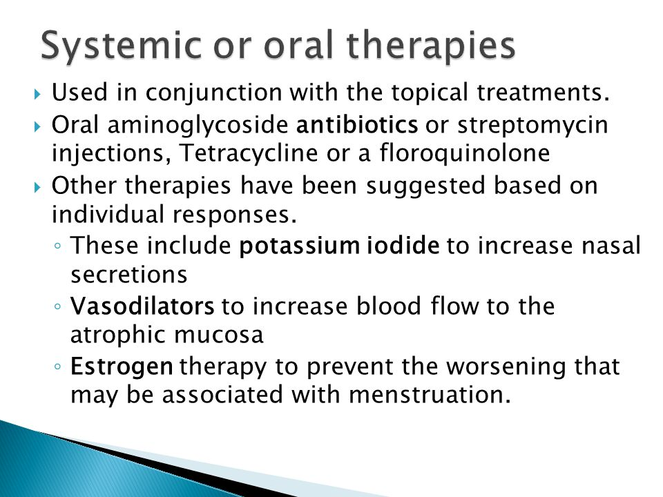 Systemic or oral therapies