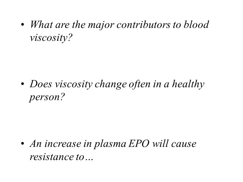 • What are the major contributors to blood