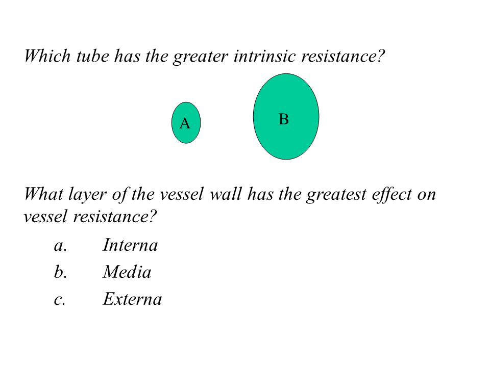 Which tube has the greater intrinsic resistance