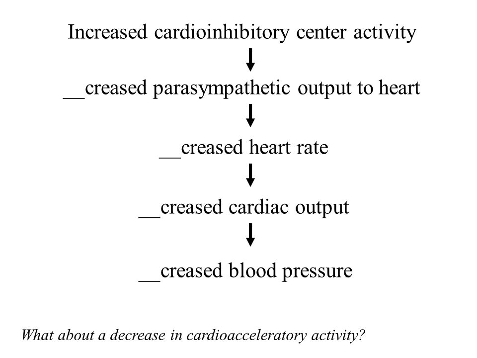 Increased cardioinhibitory center activity