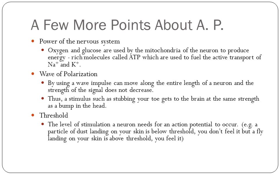 A Few More Points About A. P.