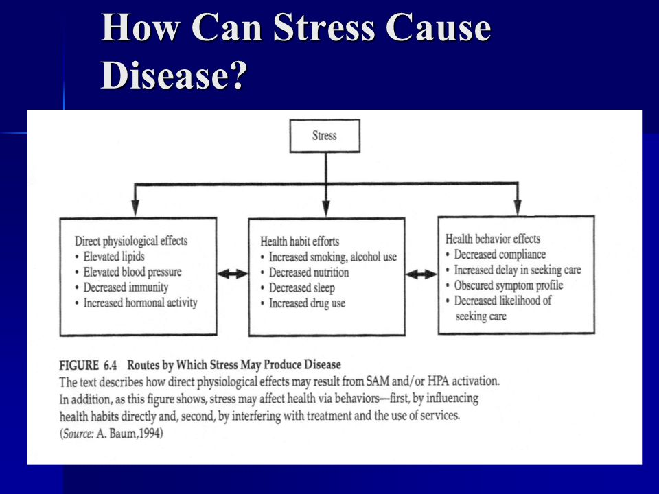 How Can Stress Cause Disease
