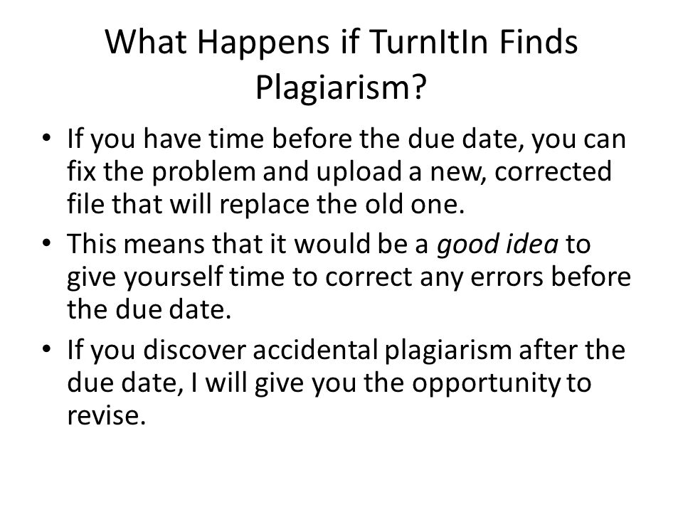 What Happens if TurnItIn Finds Plagiarism