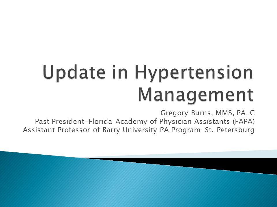 Update in Hypertension Management
