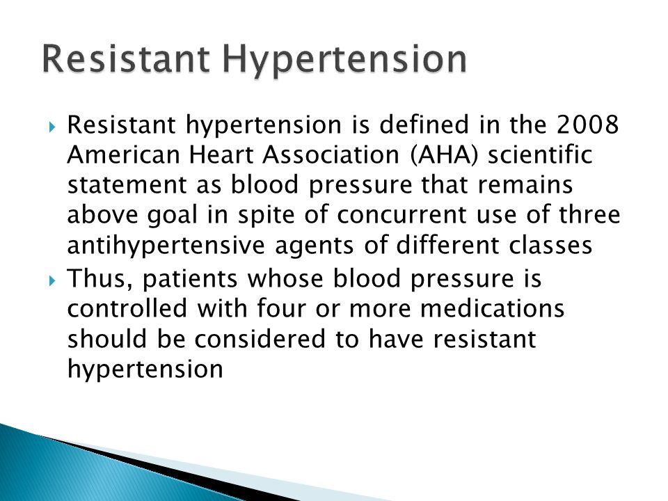 Resistant Hypertension