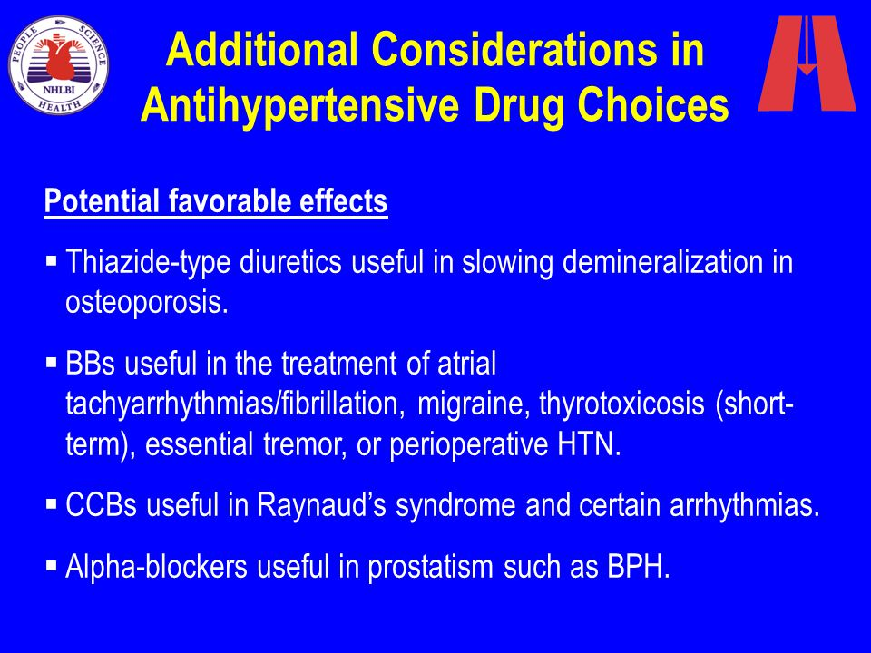Additional Considerations in Antihypertensive Drug Choices