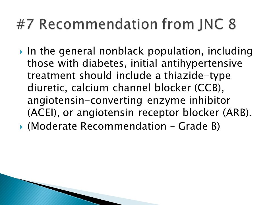 #7 Recommendation from JNC 8