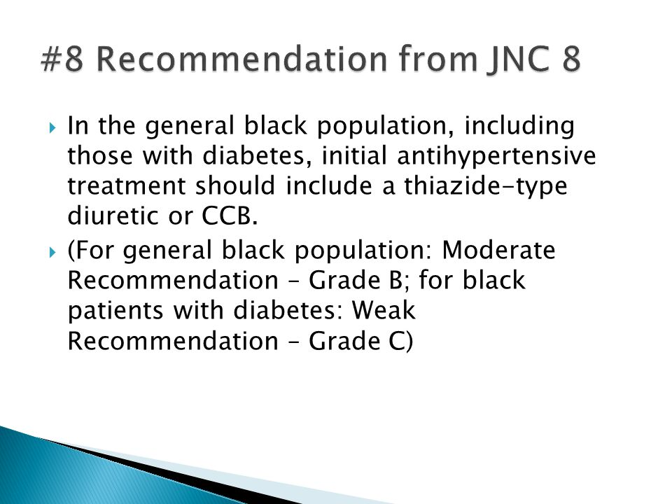 #8 Recommendation from JNC 8