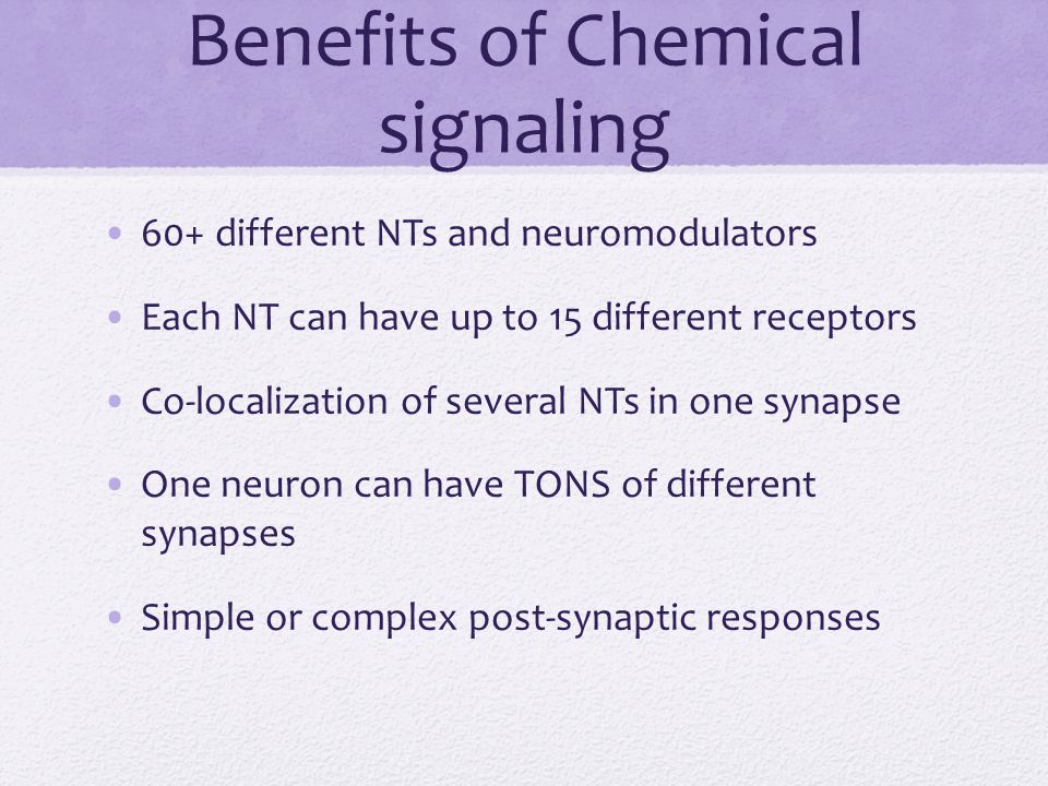 Benefits of Chemical signaling