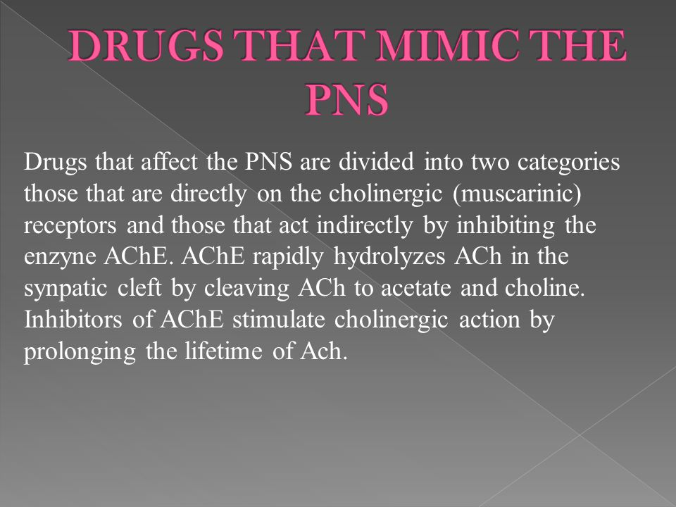 DRUGS THAT MIMIC THE PNS