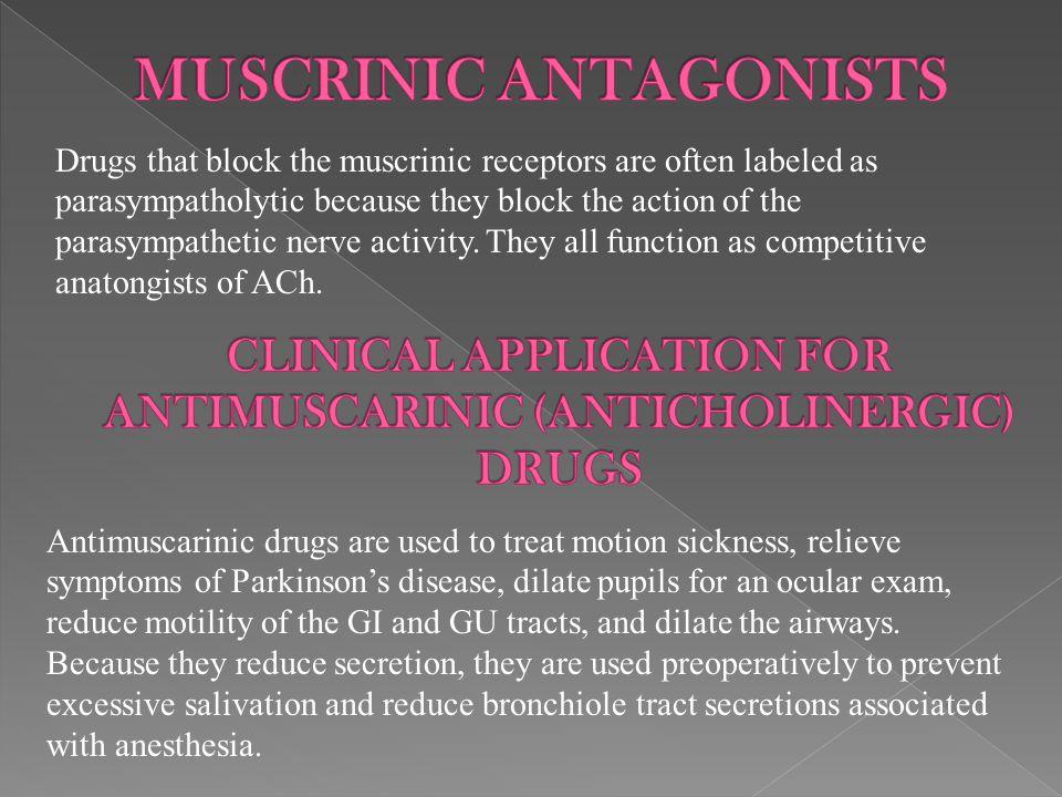 MUSCRINIC ANTAGONISTS