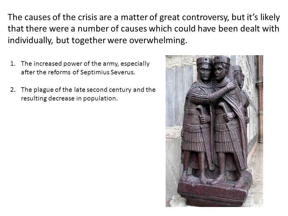 The causes of the crisis are a matter of great controversy, but it's likely that there were a number of causes which could have been dealt with individually, but together were overwhelming.