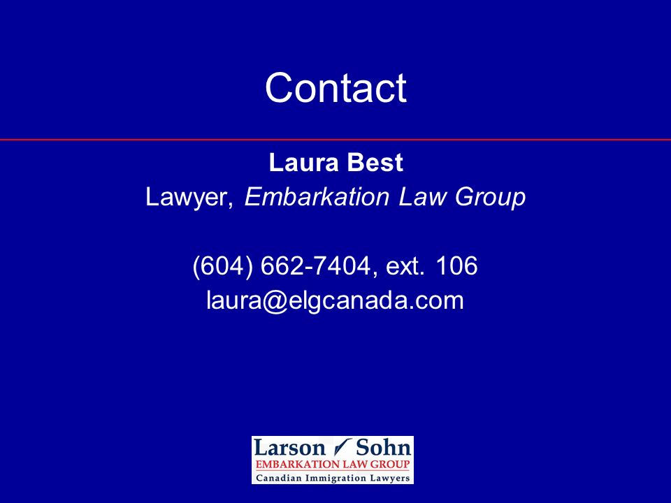 Lawyer, Embarkation Law Group