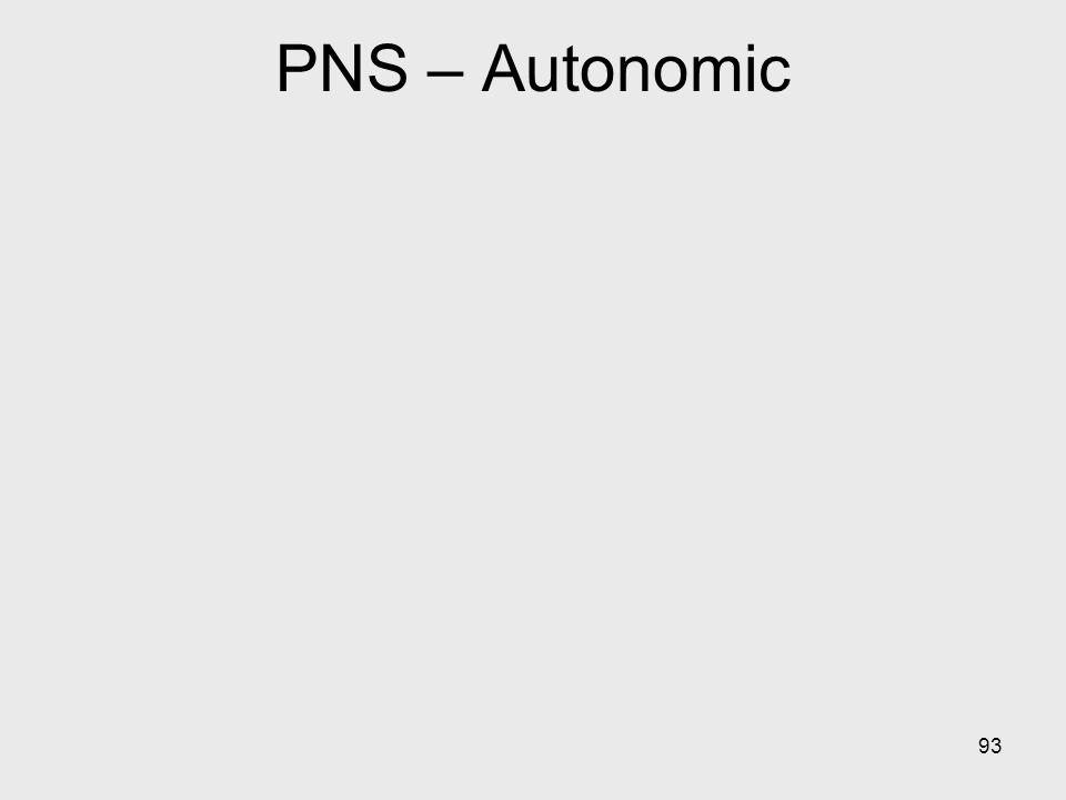 PNS – Autonomic