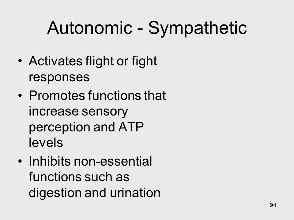 Autonomic - Sympathetic