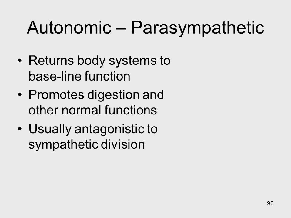 Autonomic – Parasympathetic