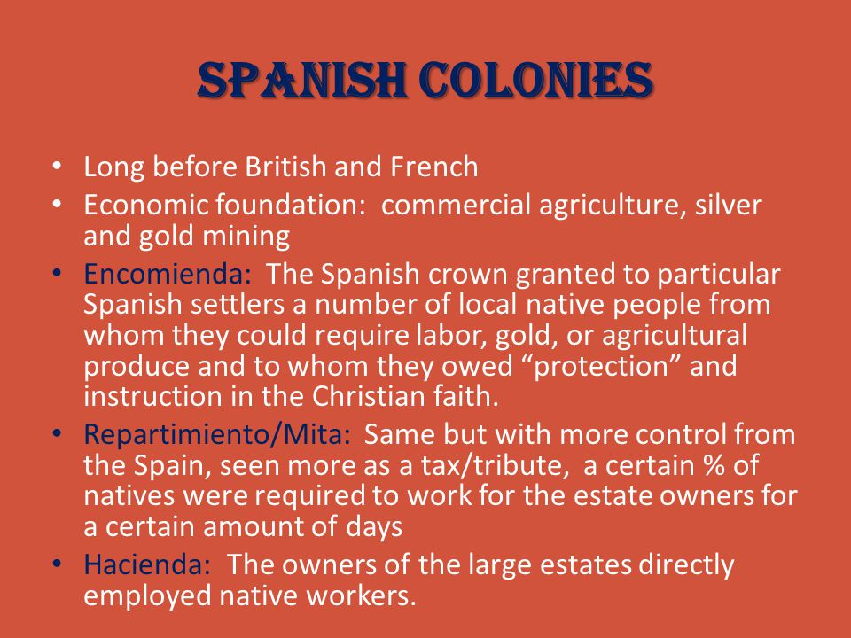 Spanish Colonies Long before British and French