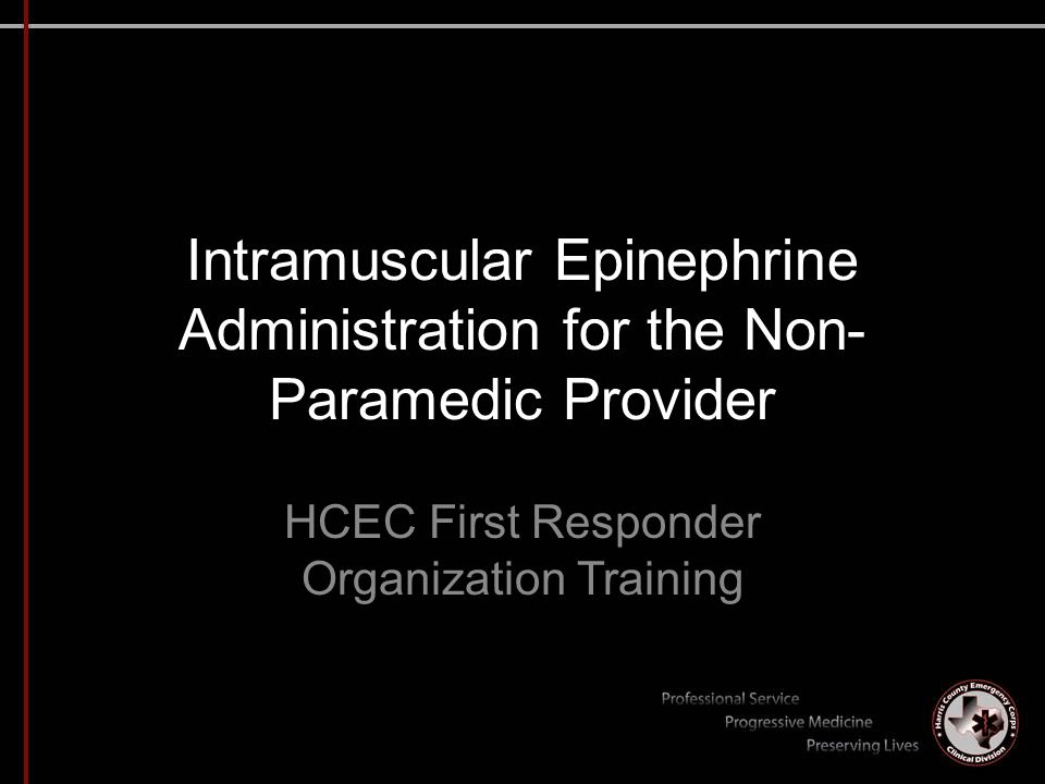 HCEC First Responder Organization Training
