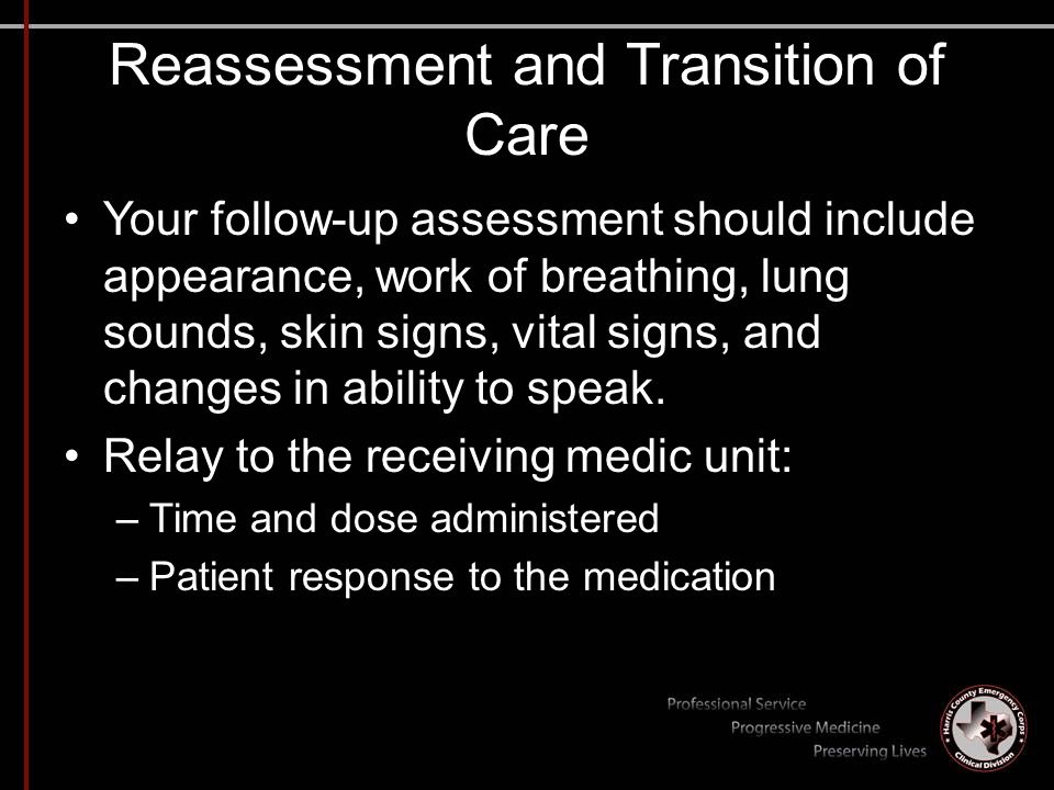 Reassessment and Transition of Care