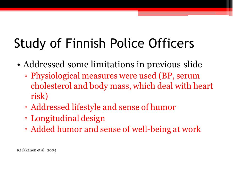 Study of Finnish Police Officers