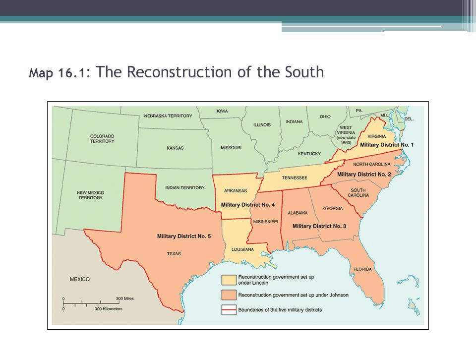 Map 16.1: The Reconstruction of the South