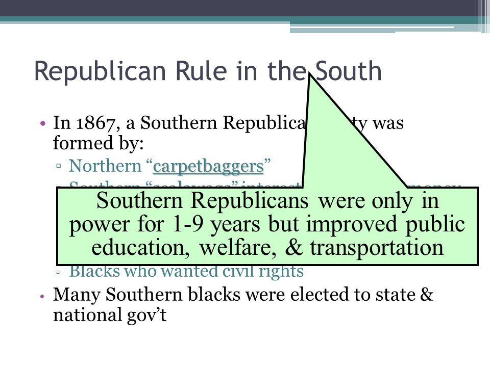 Republican Rule in the South