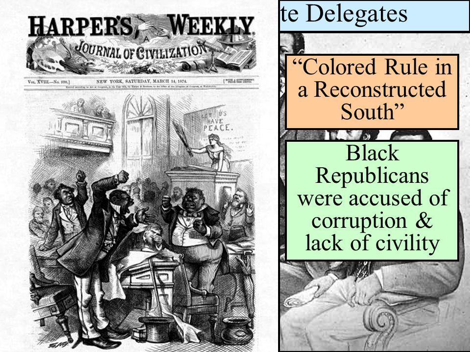 Black House & Senate Delegates Black & White Political Participation
