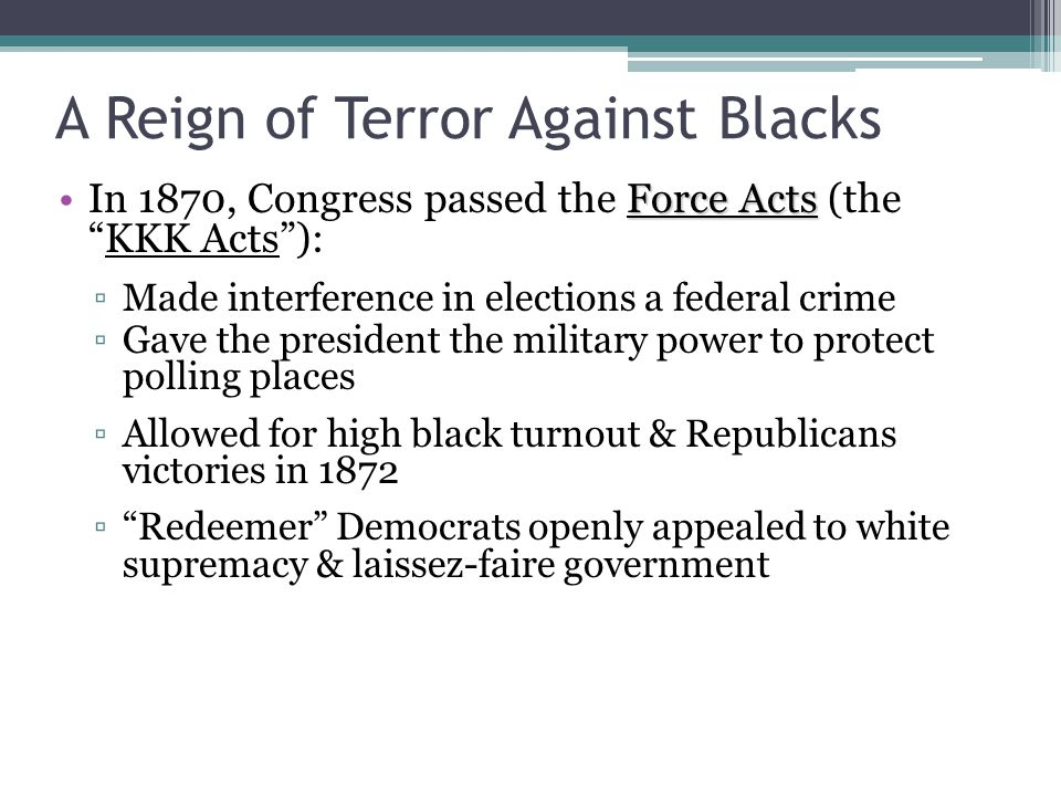 A Reign of Terror Against Blacks