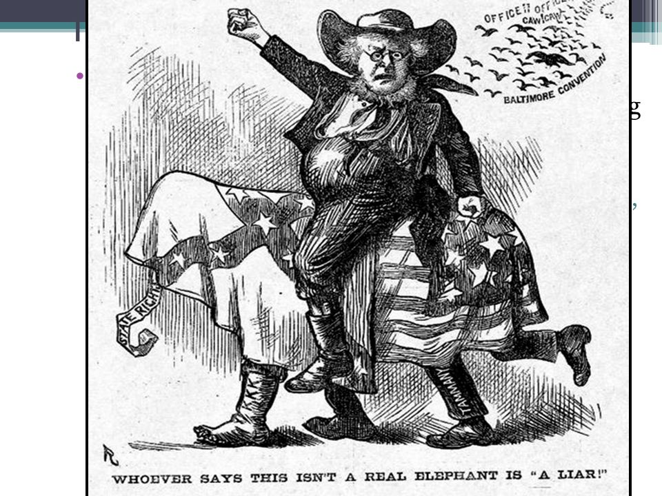 The Election of 1872 Corruption scandals & the failure of Reconstruction in the South led to a split among Republicans:
