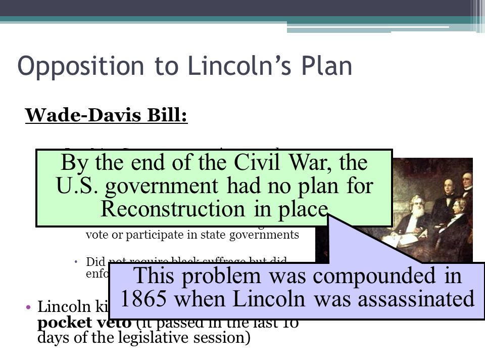 Opposition to Lincoln's Plan
